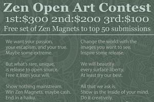 6: The Zen Open Art Contest.